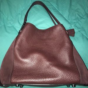 Coach Edie 42 (Oxblood with Gunmetal Hardware)